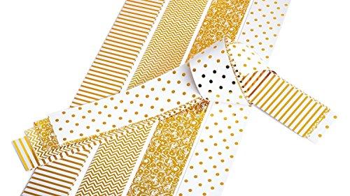 12x Quilling Papier-Streifen glänzend