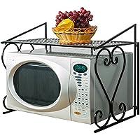 acornfort 2niveles estante de microondas horno de metal (55* 36* 45cm) cocina Metal Horno de microondas rack de almacenamiento soporte