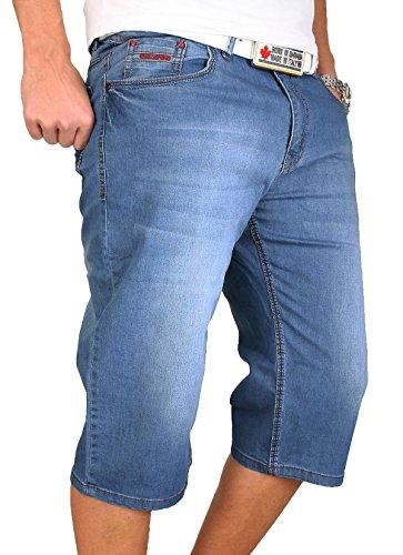 Herren Shorts Kurzehose Bermudashorts Herrenhose Sommer Bermuda W29-36 Blau RC-1030 Blau