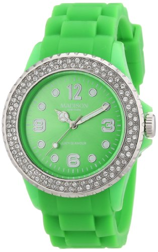 Madison New York Unisex-Armbanduhr Juicy Glamour Analog Silikon U4101Q5