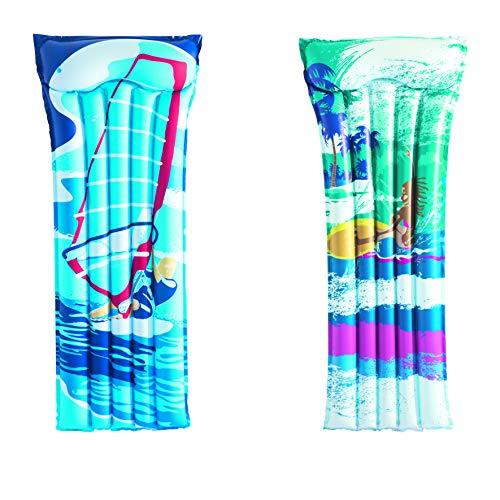 Bestway 44021 pool & beach float - flotadores para piscina y playa Colchón flotante, Multicolor, Vinilo...