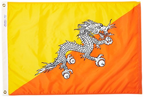 Annin flagmakers 190640Nylon solarguard nyl-glo Bhutan Flagge, 2x 3'