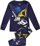 Tkiames Enfants Garçons Ensembles de pyjama Mignonne Tracteur, 2-8 Ans