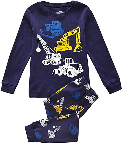 Tkiames Boys Pyjamas Sets Cotton Long Sleeve PJS Nightwear Sleepwear 1-8Y