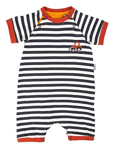 Sigikid Baby-Junge-Overall, kurz-Spieler-Schlafanzug Sommer Schlafstrampler, Mehrfarbig (Ebony 89), (Herstellergröße: 80)