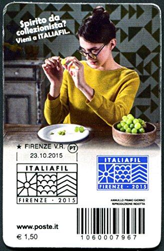 2015Karte FILATELICA italiafil seltene 1000nummerierten Exemplaren verteilt-Poste Italiane