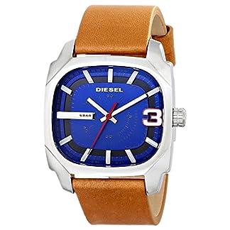 DieseI Men's Analogue Leather Watch (Brown)