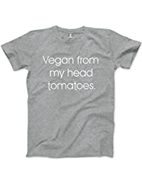 HotScamp Vegan From My Head Tomatoes - Unisex T-Shirt