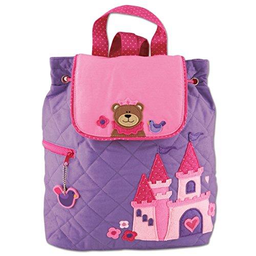 Stephen Joseph Children's Quilted Backpack Kinder-Rucksack, 33 cm, 2 liters, Violett (Purple)