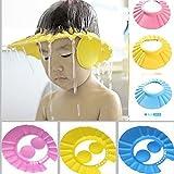 Vmore Adjustable Safe Soft Bathing Baby Shower Hair Wash Cap For Children (Multicolour)