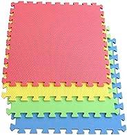 COOLBABY Baby Play Mat EVA Foam Kids Rug Puzzle Mat Floor Playmat 60 * 60 CM 4 Piece Set