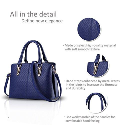 Die hersteller im Großhandel neUe handtaschen Taschen einfarbig Schulter schräg über die dame Ballen eine Generation von Fett 901 Blau