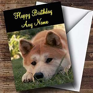 Personnalisé Chien Akita japonais carte d'anniversaire