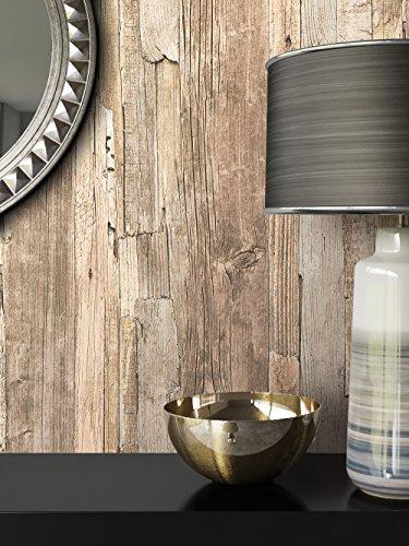 Holz Tapete Vlies Beige Braun Grau Edel | Schöne Edle Tapete Im Holzwand  Design | Moderne 3D Optik Für Wohnzimmer, Schlafzimmer Oder Küche Inkl.