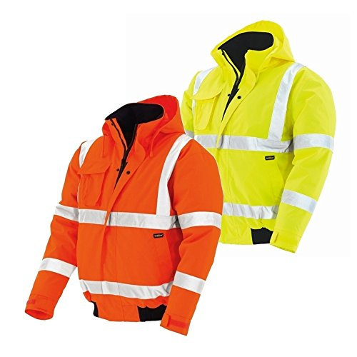 Texxor, 4119, alta visibilità giacca pilot whistler impermeabile, antivento giacca lavoro, l, arancio