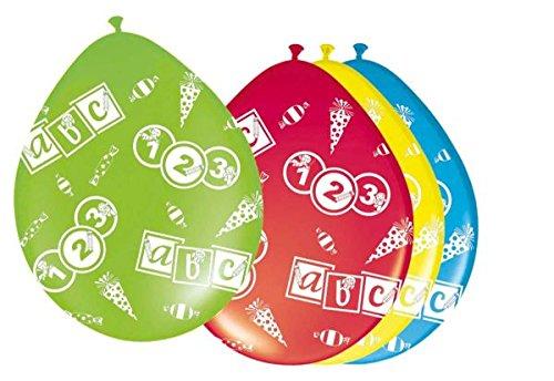 Luftballons Schulanfang ABC (1 Packung, 123 + ABC)