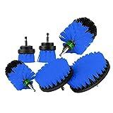 Lecimo Kit 6Pcs per kit trapano, kit di pulizia per la pulizia della macchina, per la pulizia di piastrelle per piscine, automobili, cucine, bagni, ceramiche, sedili/punterie, blu