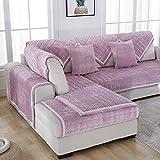 KFHIWUEHPJHD Sofá de Felpa Color sólido slipcover,Cubierta del sofá Moderno y Simple de la Tela para Toalla sofá salón Franela Grueso Terciopelo-B 110x240cm(43x94inch)