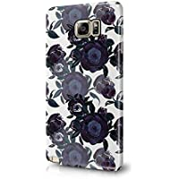 Flower Night Blue Rose Blossom Pattern Durable Hard Plastic Snap-On Plastic Phone Case Cover For Samsung Galaxy Note 5
