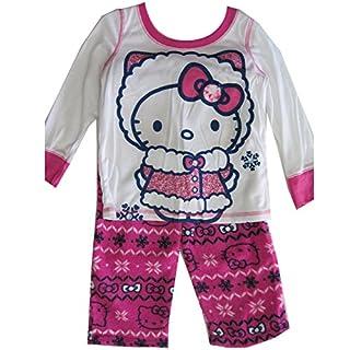 Hello Kitty Mädchen Schlafanzug Weiß Weiß