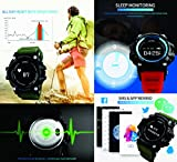 SKMEI Bluetooth Digital Smart Watch With Health Fitness Tracker (Army Green)