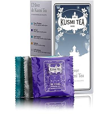 Kusmi Tea - Assortiment de thés et infusions d'hiver - Boîte de 24 sachets