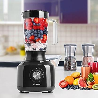 BESTEK-800W-3-in-1-Design-Kchenmaschine-Zerkleinerer-Food-Processor-Standmixer-mit-Kaffeemhle-Mixer-mit-Knethaken-Hcksler-Reibe-Emulgierscheibe-Schwarz
