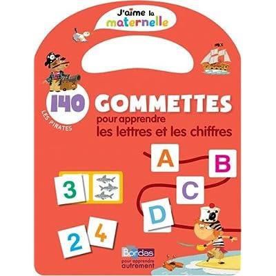 140 gommettes pour apprendre les lettres et les chiffres : Les pirates