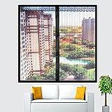 Anti mosquito Pantallas de la ventana,Pantalla de la ventana de velcro,Pantallas de ventana de marco completo velcro Auta-adhesivo Sin punzón Movible-Negro 80x100cm(31x39inch)