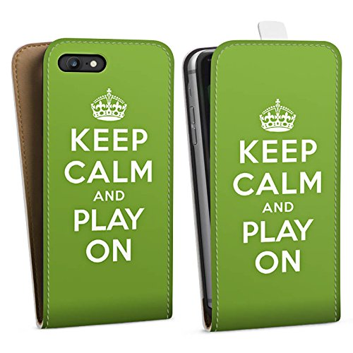 Apple iPhone X Silikon Hülle Case Schutzhülle Keep Calm Games Konsole Downflip Tasche weiß