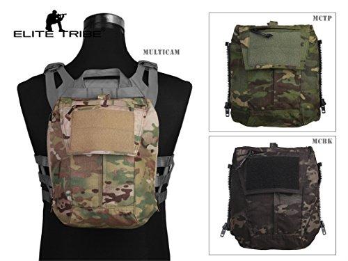 Jagd Combat MOLLE Rucksack Zip-On Panel–für Weste AVS jpc2.0CPC Multicam Black