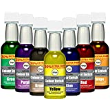 7 x Simpa® Natural Colour Enrich Liquid Food Colouring Super Concentrated Formula. Suitable for Vegetarians. No Artificial Ingredients or Flavours - Set of 7: Red, Blue, Orange, Green, Yellow, Brown & Purple.