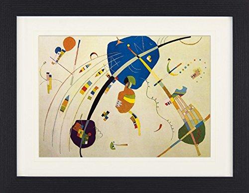 1art1 114029 Wassily Kandinsky - Gegen Blau, 1939 Gerahmtes Poster Für Fans Und Sammler 40 x 30 cm
