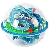 MKYVERAY 3D Laberinto Bola Pasatiempos con 138 Laberinto Juegos de Educación Mágica Rompecabezas Intelecto Bola Laberinto para Niños Adultos
