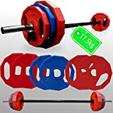 Best Barbell Sets - Bodyrip Polygonal Weight Plate Barbell Set 17Kg + Review