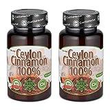 Cvetita Herbal,2 x Ceylon Cannella,2 x 80 capsule Ceylon Cinnamon, antiossidante | Migliorare la digestione e il Metabolismo | Ridurre l' appetito e la perdita di peso