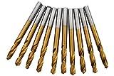 10x kurze HSS-TIN Anbohrer Metallbohrer Blechbohrer DIN1897 Ø 2,5mm