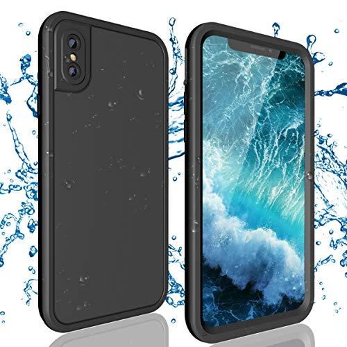 ShellBox Funda Impermeable iPhone X, a Prueba de Golpes, Polvo y arañazos, Cubierta Protector de Cuerpo Entero, Completa a Prueba de Agua respecto al estándar IP68 para iPhone X, Negro