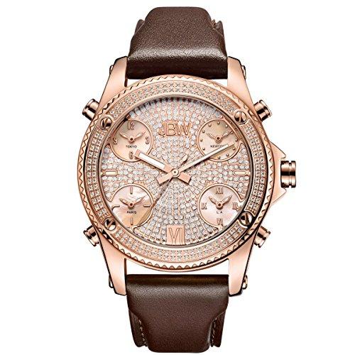 JBW Hombres del Diamante Genuino Reloj–Jet Setter Oro Rosa
