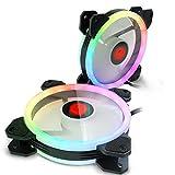 CLOCK Creative Led Lumière Couleur Changement RGB Châssis Ventilateur 12Cm PC De Bureau Silent Cooling Fan (6Pcs-10Pcs),10Pcs
