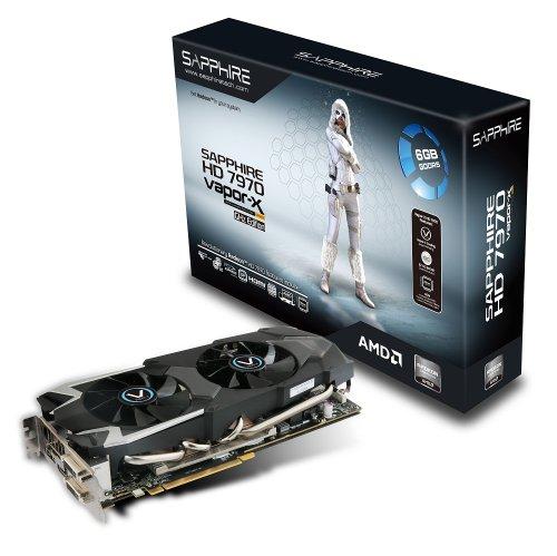 Sapphire ATI HD 7970 Grafikkarte (PCI-e, 6GB GDDR5 Speicher, HDMI, DVI, 2x mini-DisplayPort, 1 GPU)