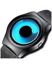 Horse Head Swift Movement Blue Spinner Dial Black Shepard Metal Belt Men's & Boy's Watch - BLNUON