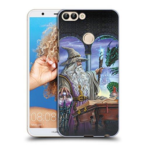 Offizielle Ed Beard Jr Botschafter Drachen Von Dem Zauberer Fantasie Ruckseite Hülle für Huawei P Smart / Enjoy 7S