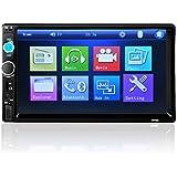 7pulgadas en el tablero doble DIN coche estéreo receptor de medios digitales, C 'Est Touch Screen Car Stereo Radio 2Din FM/MP5/MP3/USB/AUX