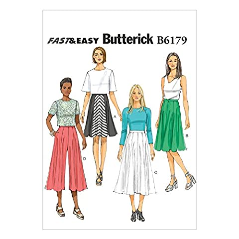 Butterick Patterns B6179A50 Misses' Skirt and Culottes Sewing Template, A5 (6-8-10-12-14) by BUTTERICK PATTERNS