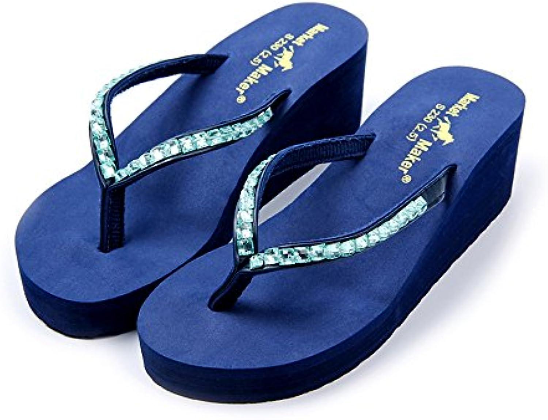Dihope Damen Mode Flip-Flops Böhmen Hausschuhe Zehentrenner Mädchen Schuhe Sommer Sandalen Strand Schuhe Hoherö