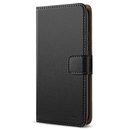 HOOMIL Huawei Mate 10 Pro Hülle, Handyhülle Huawei Mate 10 Pro Tasche Leder Flip Case Brieftasche Etui Schutzhülle für Huawei Mate 10 Pro Cover - Schwarz (H3202)