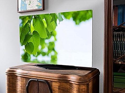 screencover - Abdeckung für Ihren Flatscreen, alle Zollgrößen möglich, Material Hartschaum weiß, mit Motiv Seichtes Wasser, Größe 50'' TV (123cm x