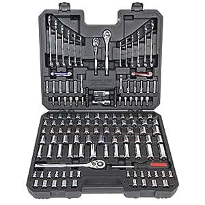 Kirkland Signature Kit d'outils mécanique à 159 outils assortis dans un étui de rangement Noir