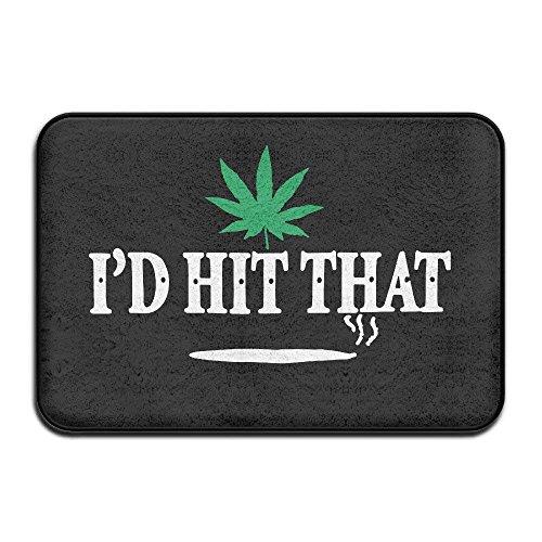 Pads bag Coussinets Sac I'd Hit Qui Pot de Marijuana Weed Dénoyauteur Intérieur/extérieur/Tapis de Salle de Bain 40 cm x 60 cm